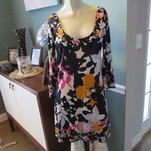 Diane von Furstenberg DVF Floral Silk Dress 6
